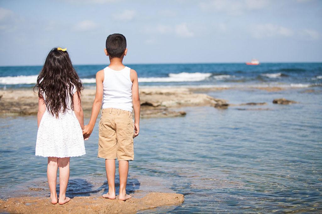 צילומי משפחה מיוחדים בים