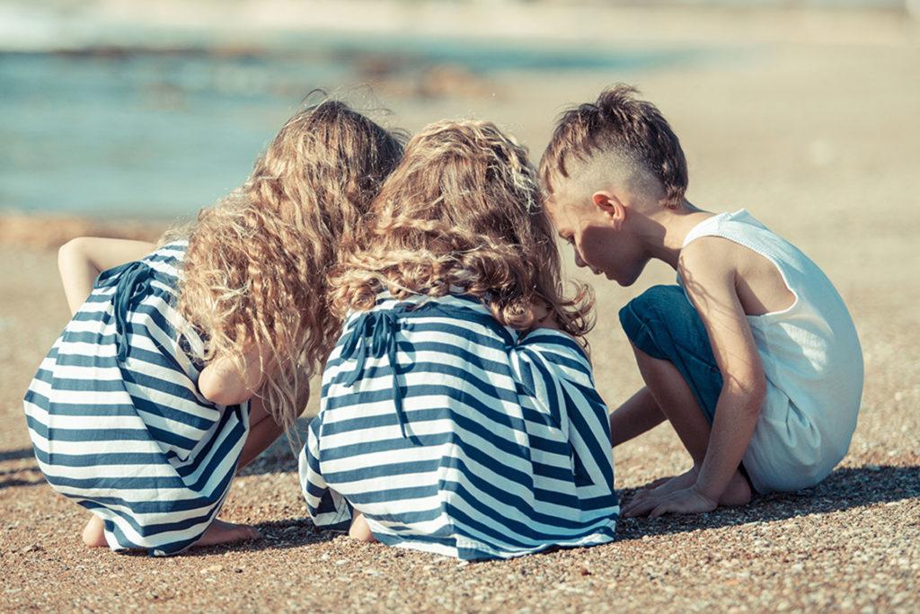 צילומי ילדים ומשפחה בים